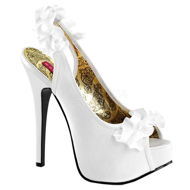 TEEZE-56 high heels de mujer españa blanco talla 37 - 38